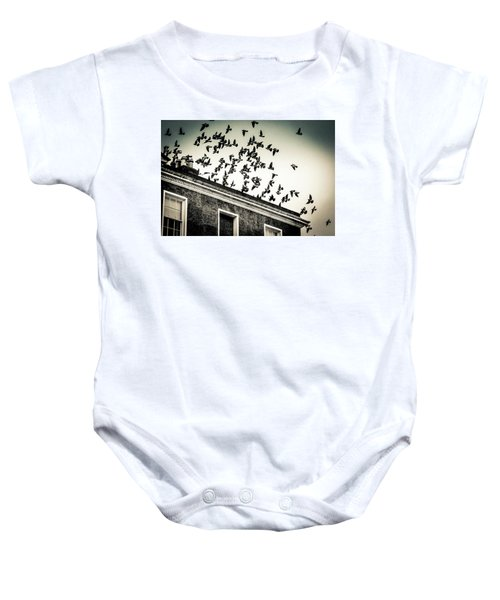 Flight Over Oscar Wilde's Hood, Dublin Baby Onesie