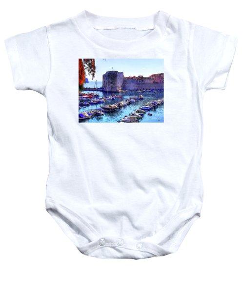 Dubrovnik Harbour Baby Onesie
