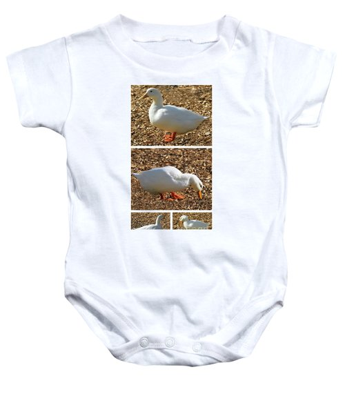 Duck Collage Mixed Media A51517 Baby Onesie