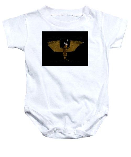 Dunjon T-shirt Print 2 White Baby Onesie