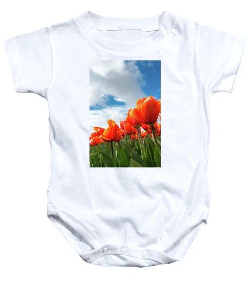 Dutch Tulips Near Keukenhof Baby Onesie