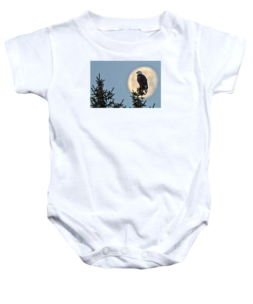 Eagle Moon Baby Onesie