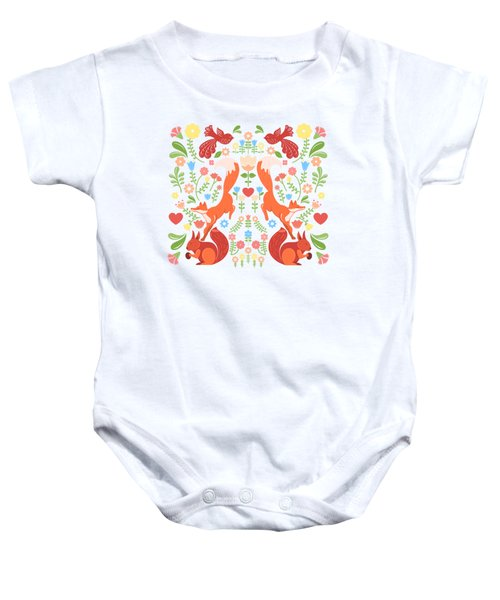 Early Fall Festival Flower Frolic  Baby Onesie