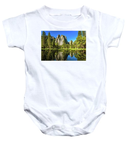Early Morning View At Cathedral Rocks Vista Baby Onesie