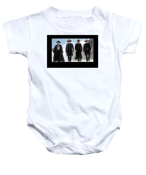 Earp Brothers And Doc Holliday Approaching O.k. Corral Tombstone Movie Mescal Az 1993-2015 Baby Onesie