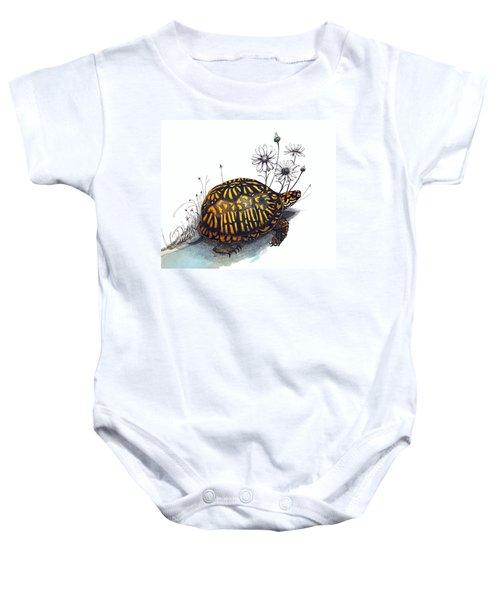Eastern Box Turtle Baby Onesie