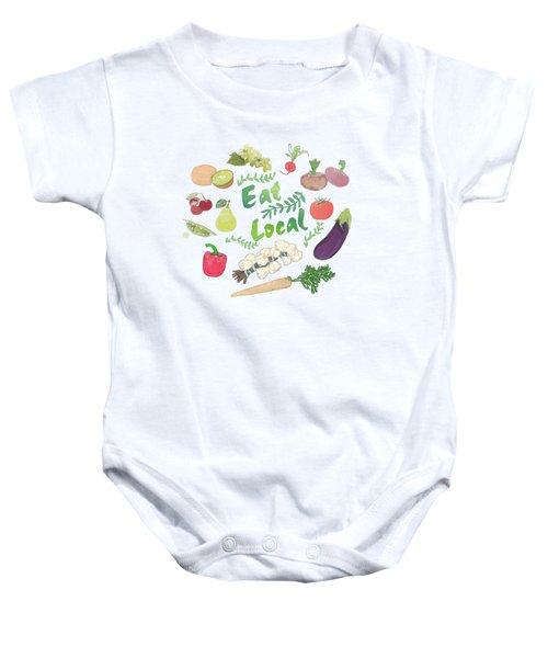 Eat Local  Baby Onesie