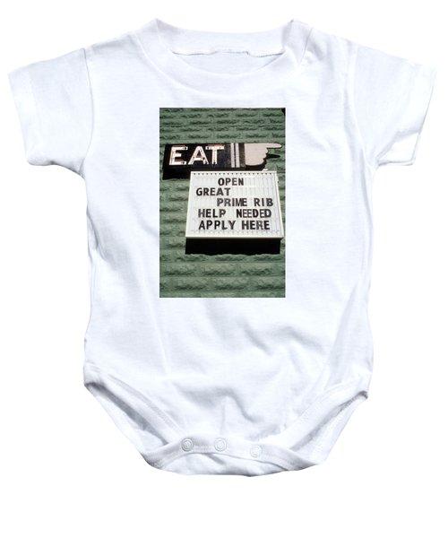 Eat Sign Baby Onesie