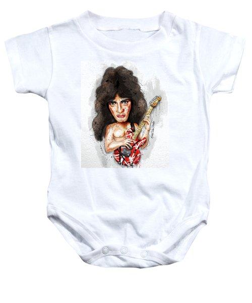 Eddie Van Halen Baby Onesie by Gary Bodnar