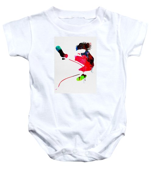 Eddie Watercolor Baby Onesie by Naxart Studio