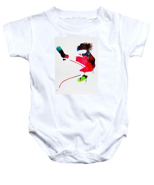 Eddie Watercolor Baby Onesie