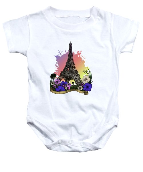 Eiffel Tower Baby Onesie by Adam Santana