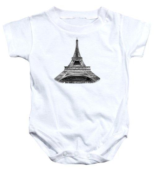 Eiffel Tower Design Baby Onesie by Irina Sztukowski