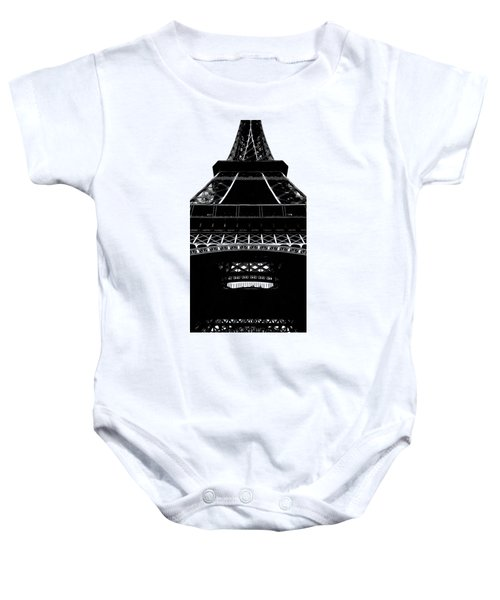 Eiffel Tower Paris Graphic Phone Case Baby Onesie by Edward Fielding