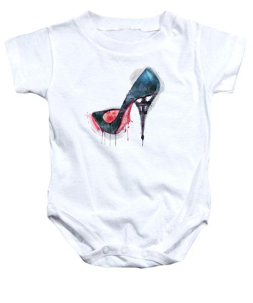 Eiffel Tower Shoe Baby Onesie