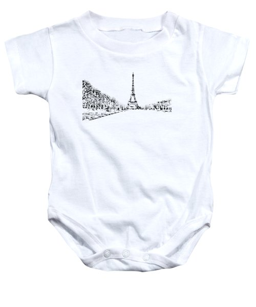 Eiffel Tower Baby Onesie by ISAW Gallery
