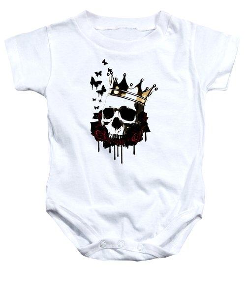 El Rey De La Muerte Baby Onesie by Nicklas Gustafsson