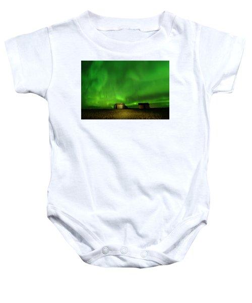 Electric Green Skies Baby Onesie