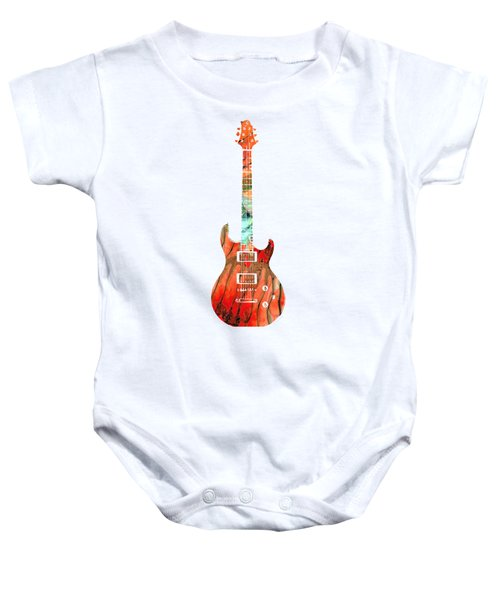 Electric Guitar 2 - Buy Colorful Abstract Musical Instrument Baby Onesie