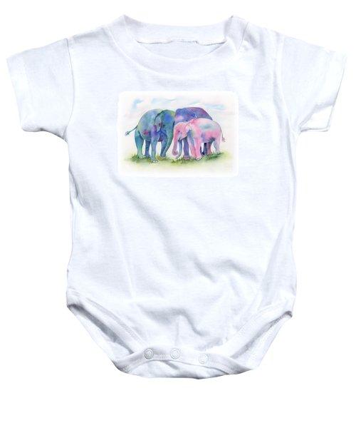 Elephant Hug Baby Onesie