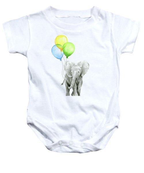 Elephant Watercolor Baby Animal Nursery Art Baby Onesie