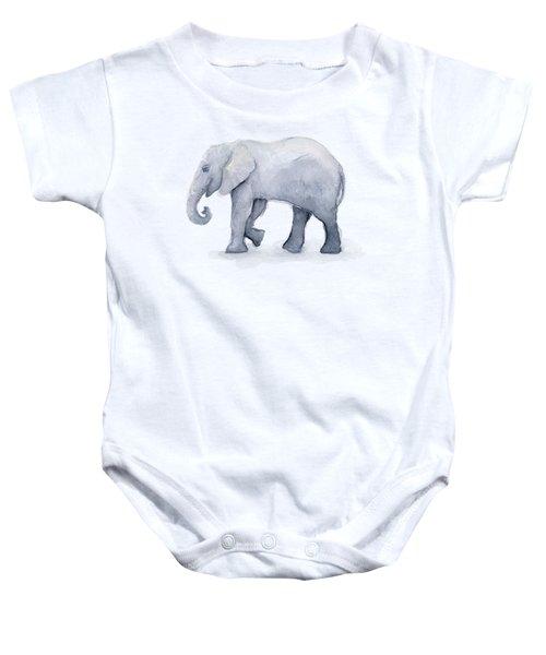 Elephant Watercolor Baby Onesie