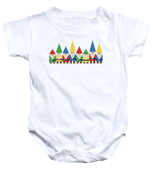 Elves On White Baby Onesie