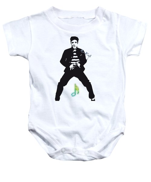 Elvis Presley In White Baby Onesie by Maria Astedt