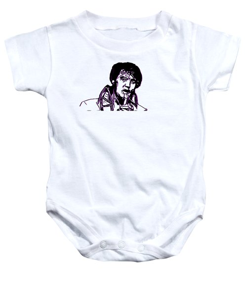 Elvis Presley Baby Onesie by Miroslav Nemecek