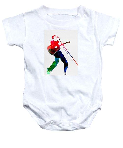 Elvis Watercolor Baby Onesie