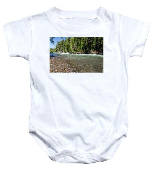 Emerald Waters Flow Baby Onesie