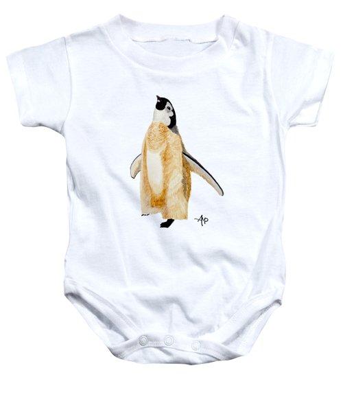Emperor Penguin Chick Baby Onesie by Angeles M Pomata