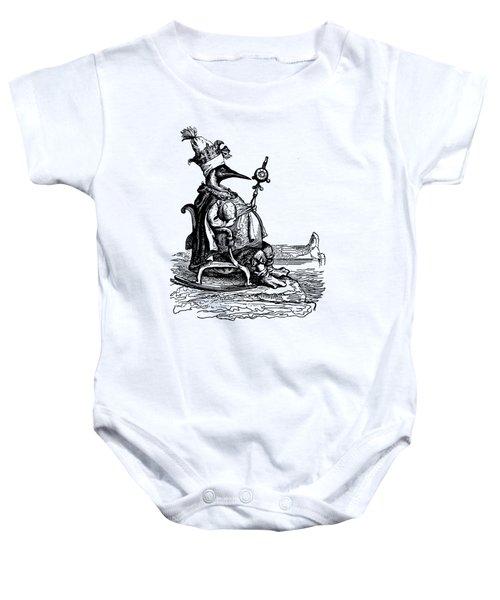 Empire Penguin Grandville Transparent Background Baby Onesie