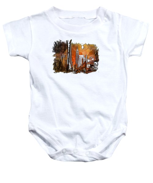 Empire State Reflections Earthy Rainbow 3 Dimensional Baby Onesie by Di Designs
