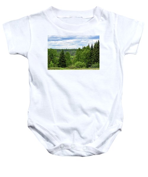 Endless Maine Forest Baby Onesie