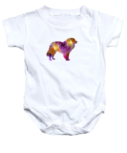 Estrela Mountain Dog In Watercolor Baby Onesie