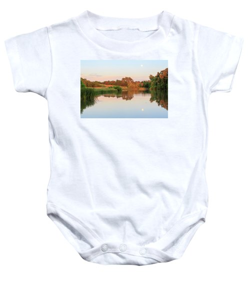 Evening At The Lake Baby Onesie