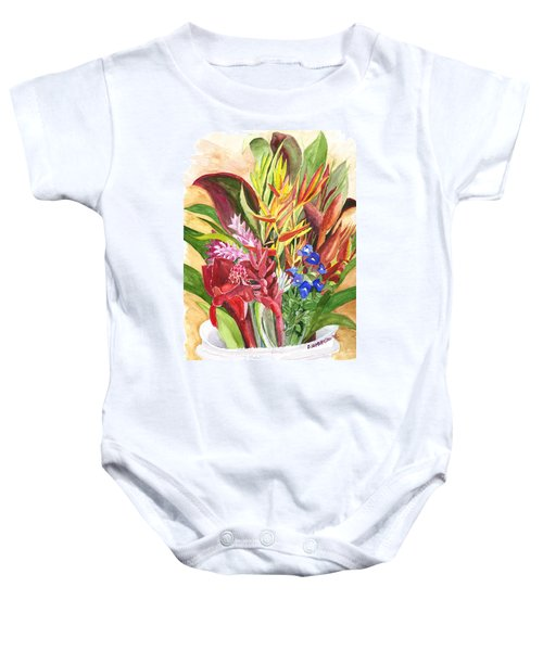 Everywhere There Were Flowers Baby Onesie