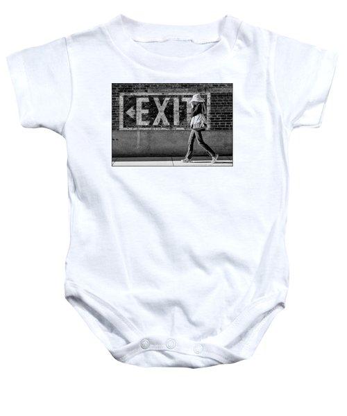 Exit Bw Baby Onesie
