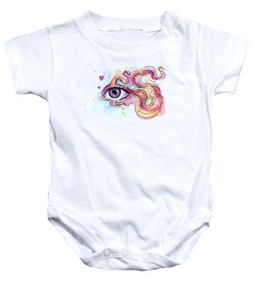 Eye Fish Surreal Betta Baby Onesie