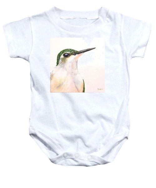 F. Ruby Throated Hummingbird Baby Onesie