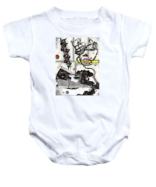 Faces In Space Baby Onesie