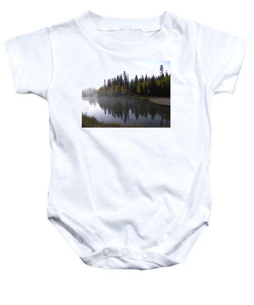 Kiddie Pond Fall Colors Divide Co Baby Onesie