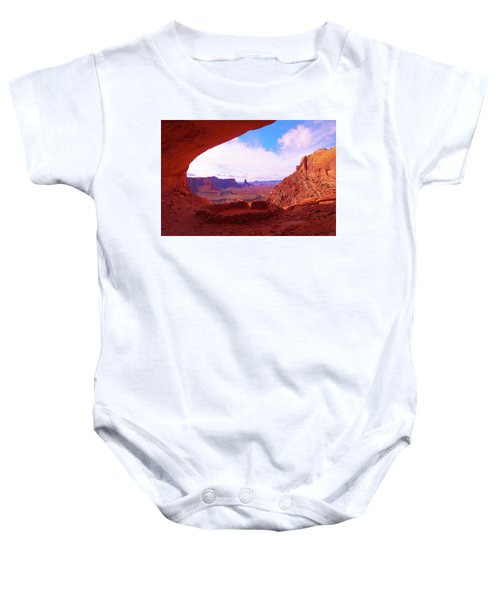 False Kiva Baby Onesie
