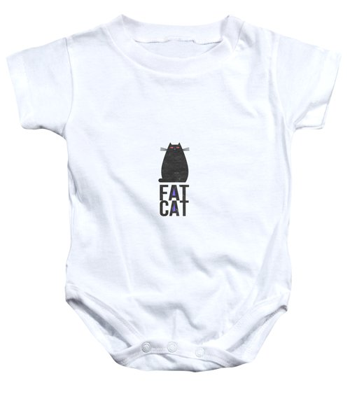 Fat Cat Baby Onesie