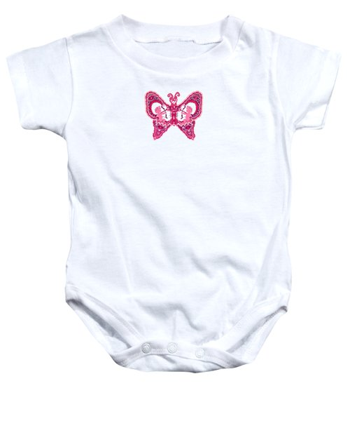 February Butterfly Baby Onesie