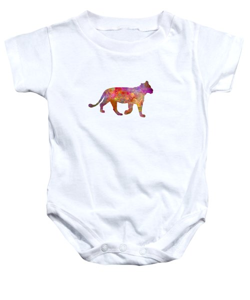 Female Lion 01 In Watercolor Baby Onesie by Pablo Romero
