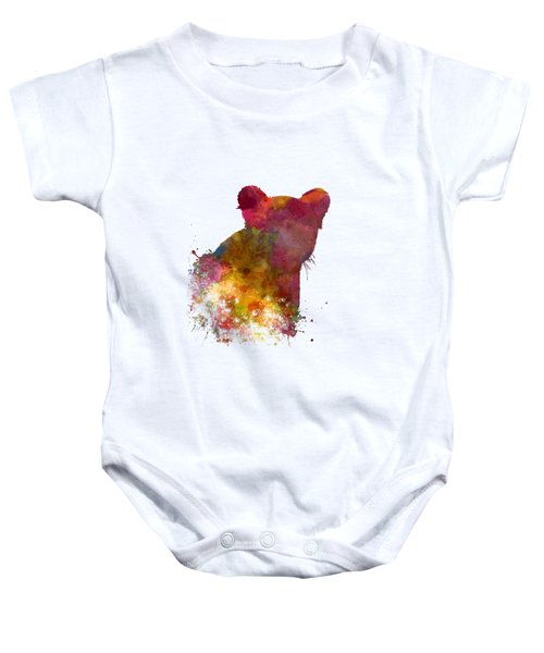 Female Lion 02 In Watercolor Baby Onesie by Pablo Romero
