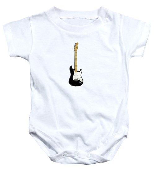 Fender Stratocaster Blackie 77 Baby Onesie by Mark Rogan