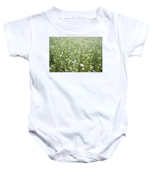 Field Of Queen Annes Lace Baby Onesie
